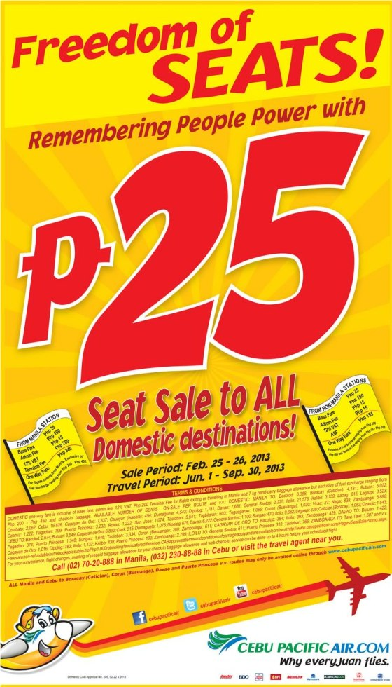 Cebu Pacific's seat sale